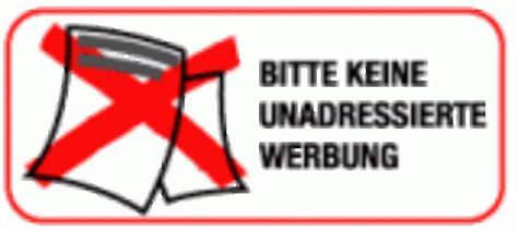 Sticker Keine Unadressierte Werbung by Postwurfsendungen Wiener Zeitung