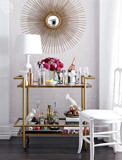 Decorating A Bar Stylish Bar Cart Decor Ideas