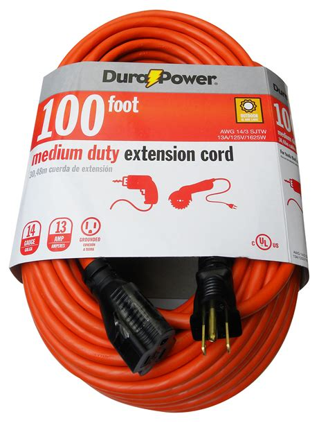 100 ft 14 outdoor extension cord dura power 100ft 14 3 outdoor extension cord