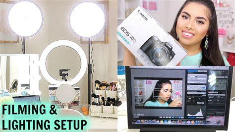 camera and lighting for youtube videos my filming lighting setup for beauty videos canon eos