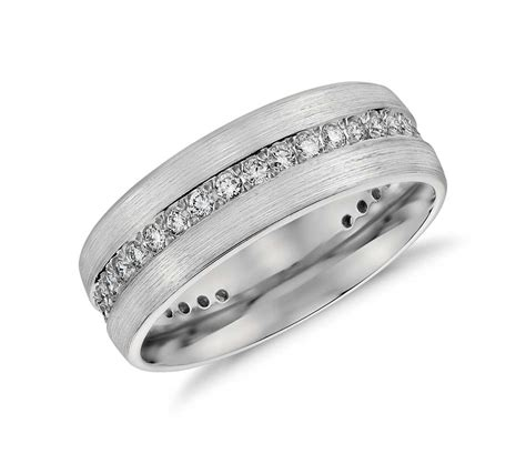 brushed eternity s wedding ring in platinum 1