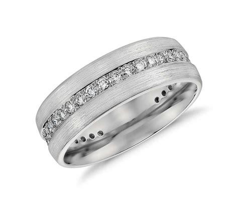 brushed eternity s wedding ring in platinum 1