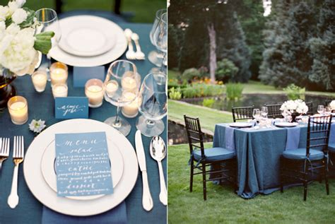 wedding reception table ideas inspiration white and indigo wedding once wed