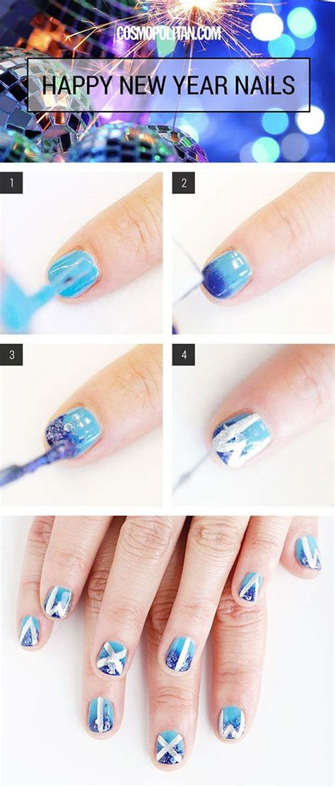 easy new year nail 17 best images about happy new year nail tutorials