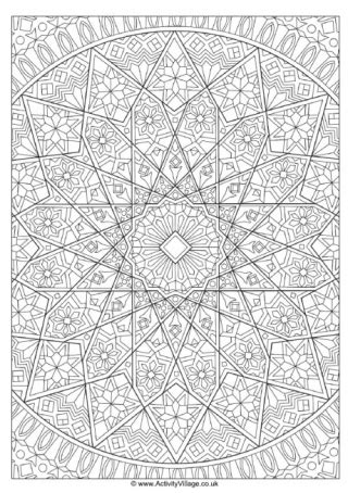 islamic pattern colouring book islamic design colouring page 2