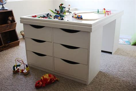 children s activity table with storage storage activity table woodworking plans