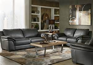 find living room furniture shop for a home perugia black leather 3 pc