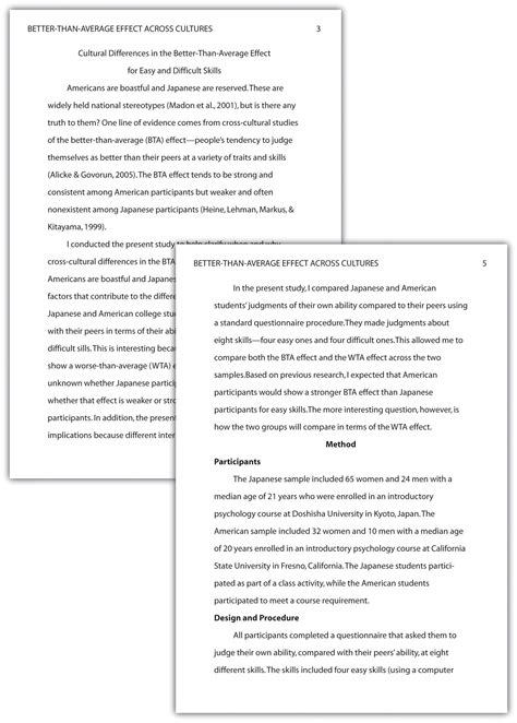 Scientific Paper Headings