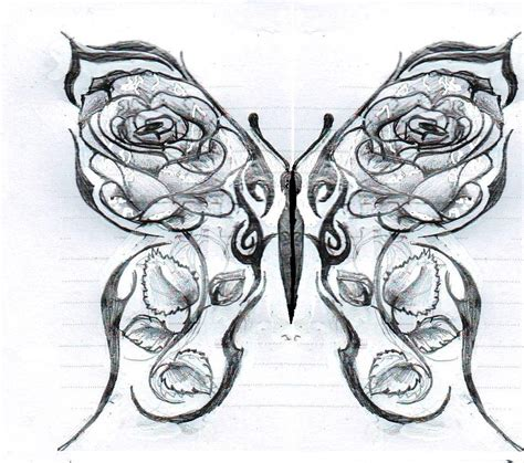 rose and heart tattoo drawings of roses and hearts butterfly with roses by