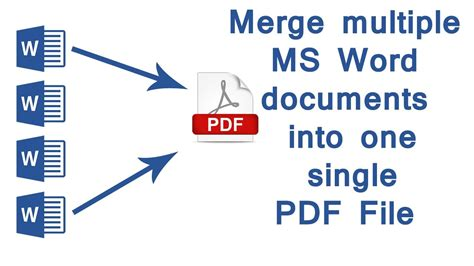 Merge Documents Into One Pdf how to merge ms word documents into one single