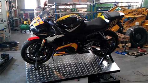 Motorrad Simulation by Motorbike Motion Simulator First Tests Youtube
