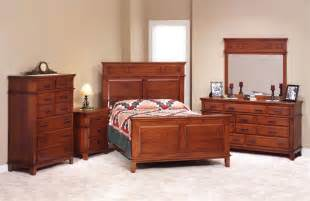Amish Furniture Bedroom Sets Cherry Wood Bedroom Set Shaker Style Amish Made 42211