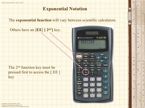 calculator exponential using the scientific calculator