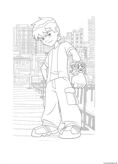 Ben 10 Novos desenhos para colorir, pintar e imprimir do