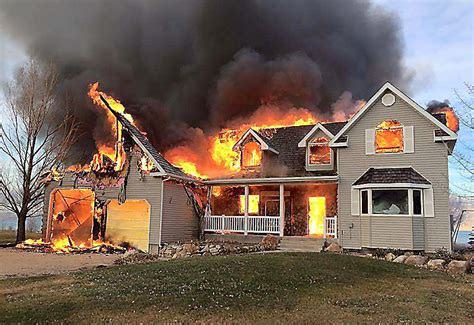 bear lake home destroyed  fire tuesday morning