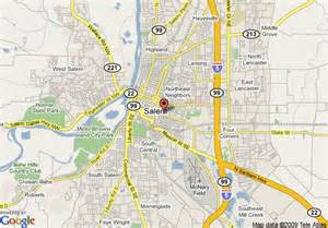 salem oregon map map of salem travelodge salem