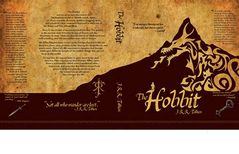 el hobbit mti edition books the hobbit book cover on behance