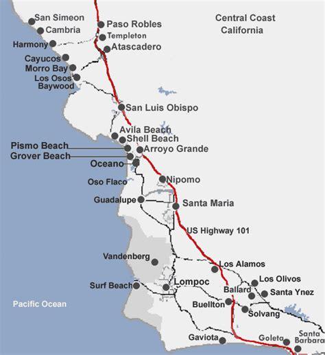 california map coast california coastal map images