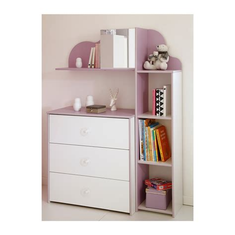 etagere lila ensemble commode biblioth 232 que etag 232 re blanc et lila es1016