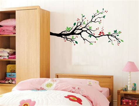 large wall tree nursery decal oak branches 1130 tree branches wall decal love birds vinyl sticker nursery