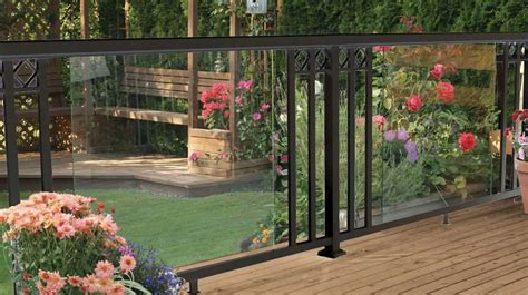 exclusive   home depot peak aluminum railing