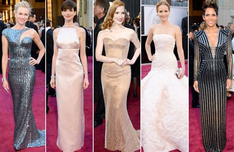 oscar fashion 2013 oscars fashion trends include pale sparkly and colorful