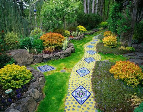 Whimsical Garden Ideas Vashon Island Wa Whimsical Garden Of Tile Gardening Ideas Tips Mosaic Tiles