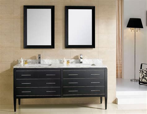 Modern Bathroom Coupon At Adornus Camile 60 Inch Modern Discount Sink Bathroom Vanity Black Finish Ceramic Top