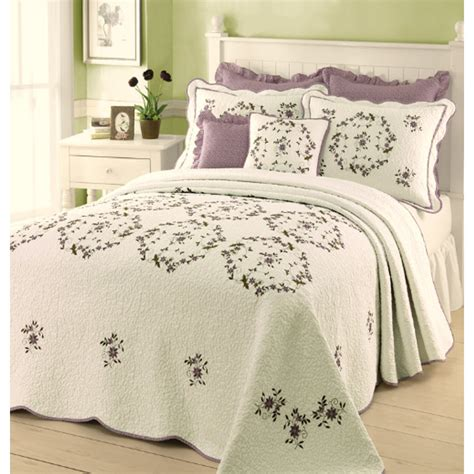 queen bed spreads shop modern heirloom gwen embroidered 1 piece cream queen