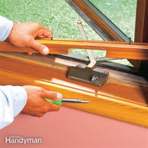 house window crank repair how to replace a casement window crank operator the family handyman