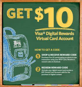 Food Lion Visa Gift Card - how to use your 10 rule the school visa food lion credits