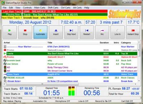 real time now playing feed fm radio radio broadcasting software live automation internet