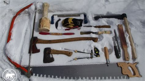 tools for building a log cabin the tools i am using to build my log cabin and