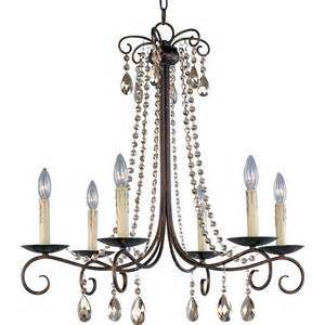 rustic chandelier maxim lighting luminous 6 light rustic chandelier
