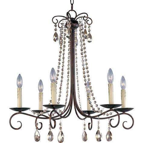 home depot rustic lighting maxim lighting adriana 6 light urban rustic chandelier