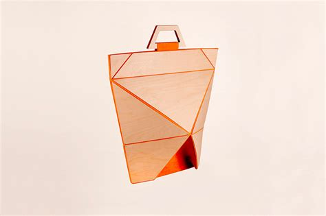 Origami Shapes - yingxi zhou folds facet bag series using origami shapes
