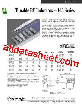 coilcraft inductors datasheet coilcraft inductor datasheet 28 images 132 datasheet pdf coilcraft lnc ds1608b 104ml