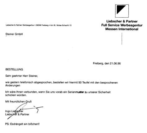 Bestellung Brief Beispiel Die Tux Story