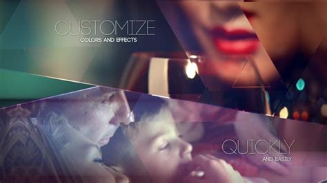 stock after effects templates crystalline geometric slideshow after effects template