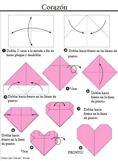 tutorial origami corazon c 243 mo hacer un coraz 243 n de origami pequeocio