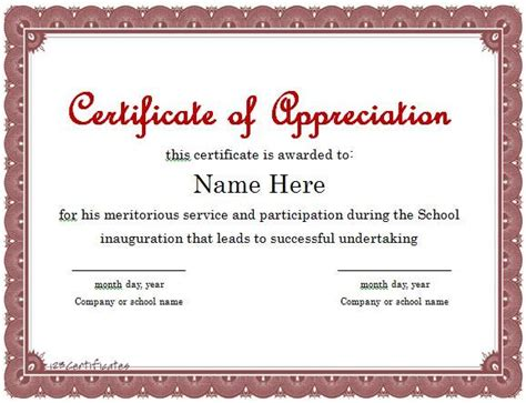 thank you certificate templates sle thank you letter recognition award cover letter