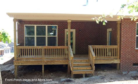 House Plans With Porches On Front And Back How To Build A Deck Or Porch Guide