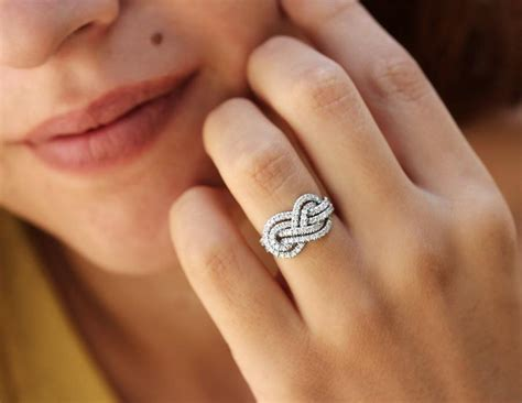 infinity wedding ring gold wedding band infinity knot ring 0 75 ct