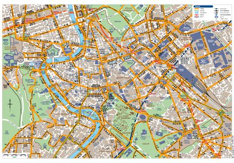 printable street map rome city centre rome centro transportation map rome italy mappery