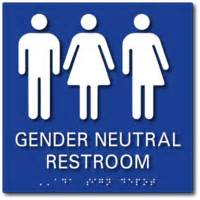 What Is A Gender Neutral Bathroom - gender neutral bathroom signs ada restroom signs adasigndepot com