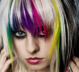 color streaks in hair with rainbow streaks hair colors ideas