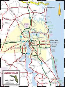 florida highway map jacksonville northeast florida map