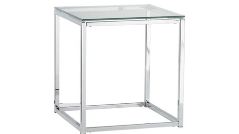 glass and chrome side table smart chrome and glass side table cb2