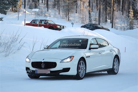 maserati quattroporte 2017 2017 maserati quattroporte facelift spied with little