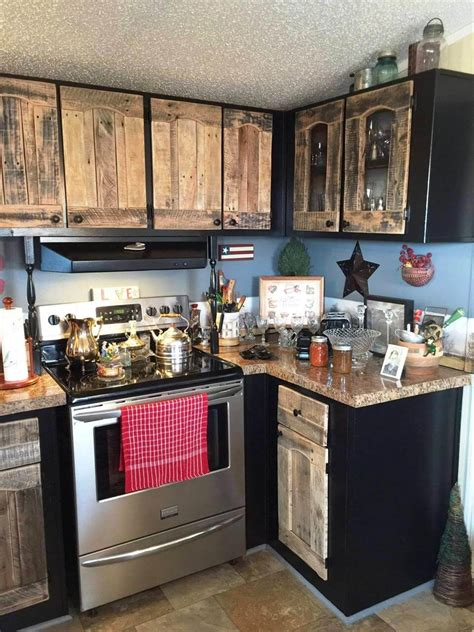 Ideas For Old Kitchen Cabinets kitchen cabinets using old pallets 101 pallet ideas